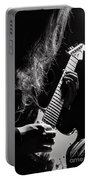 Long Hair Man Playing Guitar Portable Battery Charger
