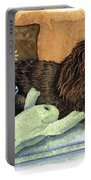 Long-haired Dachshund Watercolor Portable Battery Charger