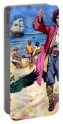 Long John Silver And His Parrot Portable Battery Charger