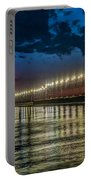 Long Lights At Grand Haven Pier Portable Battery Charger
