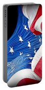 Long May She Wave The American Flag Portable Battery Charger