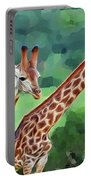 Long Necked Giraffes 2 Portable Battery Charger