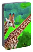 Long Necked Giraffes 3 Portable Battery Charger