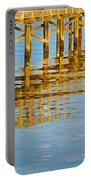 Long Wooden Pier Reflections Portable Battery Charger