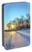 Long Shadows Of Winter 2 Portable Battery Charger