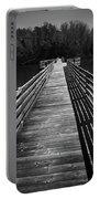 Long Wooden Bridge Portable Battery Charger by Kelly Hazel