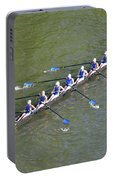Longboat - Rowing On The Schuylkill River Portable Battery Charger
