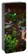 Longing For Springtime Gardens - Texture Portable Battery Charger