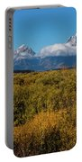 Looking Across Willow Flats To Mt Moran Portable Battery Charger
