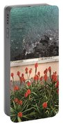 Looking Down, Angra Do Heroismo, Terceira Island Of Portugal Portable Battery Charger by Kelly Hazel