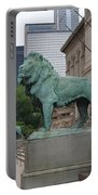 Looking Down Michigan Avenue Portable Battery Charger