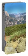 Looking Panorama At Glacier Point Portable Battery Charger