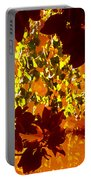 Looking Through Leaves Into Pond Portable Battery Charger