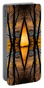 Looking Through The Trees Abstract Fine Art Portable Battery Charger
