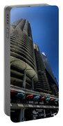 Looking Up At Chicago's Marina Towers Portable Battery Charger