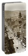 Looking Up Market Street From The Call Building With City Hall Circa 1900 Portable Battery Charger