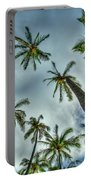 Looking Up The Hawaiian Palm Tree Hawaii Collection Art Portable Battery Charger