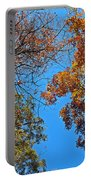 Looking Upward At Autumn's Trees  Portable Battery Charger