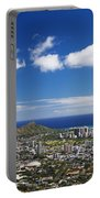 Lookout View Of Honolulu Portable Battery Charger