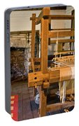 Loom And Fireplace In Settlers Cabin Portable Battery Charger