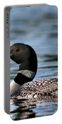 Loon In Blue Waters Portable Battery Charger
