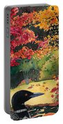 Loon In Water Garden Portable Battery Charger