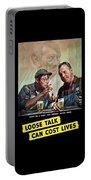Loose Talk Can Cost Lives - Ww2 Portable Battery Charger