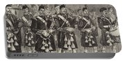 Lord Archibald Campbell And His Pipers Marching Through The Pass Of Glencoe Portable Battery Charger