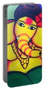Lord Ganesh By  Sarada Tewari Acrylic Paint On Canvas 24x28inch Portable Battery Charger