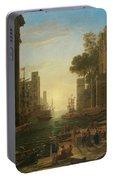 Lorena, Claudio De Chamagne, 1600 - Roma, 1682 The Embarkation Of Saint Paula Ca. 1639. Portable Battery Charger