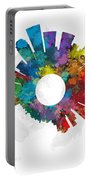 Los Angeles Small World Cityscape Skyline Abstract Portable Battery Charger