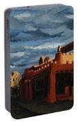 Los Farolitos,the Lanterns, Santa Fe, Nm Portable Battery Charger by Erin Fickert-Rowland