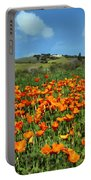 Los Olivos Poppies Portable Battery Charger