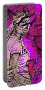 Lost In Thoughts Of Self Reflection Portable Battery Charger