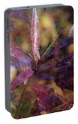 Lost Leaves Decorated In Purple 6003 Ldp_2 Portable Battery Charger