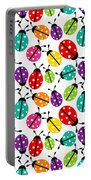 Lots Of Crayon Colored Ladybugs Portable Battery Charger
