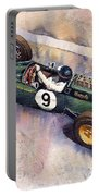 Lotus 25 F1 Jim Clark Monaco Gp 1963 Portable Battery Charger