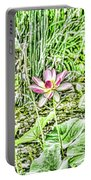 Lotus Flower Bloom In Pink 2 Portable Battery Charger
