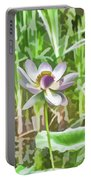 Lotus Flower On The Water Portable Battery Charger