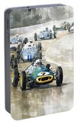 1961 Germany Gp  #7 Lotus Climax Stirling Moss Winner  Portable Battery Charger