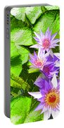 Lotus In Pond Portable Battery Charger