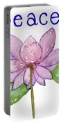 Lotus Of Peace Portable Battery Charger