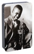 Louis Armstrong, American Jazz Musician Portable Battery Charger