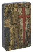 Louis B. Davis 1861-1941 St. George, Study For A Window At Wynyard Park Portable Battery Charger