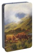 Louis Bosworth Hurt British 1856 - 1929 Highland Cattle Portable Battery Charger