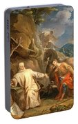 Louis Galloche - Saint Martin Sharing His Coat With A Beggar Portable Battery Charger