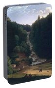 Louis Gauffier  View Of Falls At Vallombrosa Portable Battery Charger