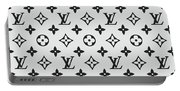 Louis Vuitton Pattern Lv 07 Grey Portable Battery Charger