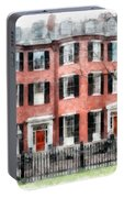 Louisburg Square Beacon Hill Boston Portable Battery Charger