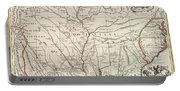 Map Of Louisiana And Of The River Mississippi Portable Battery Charger